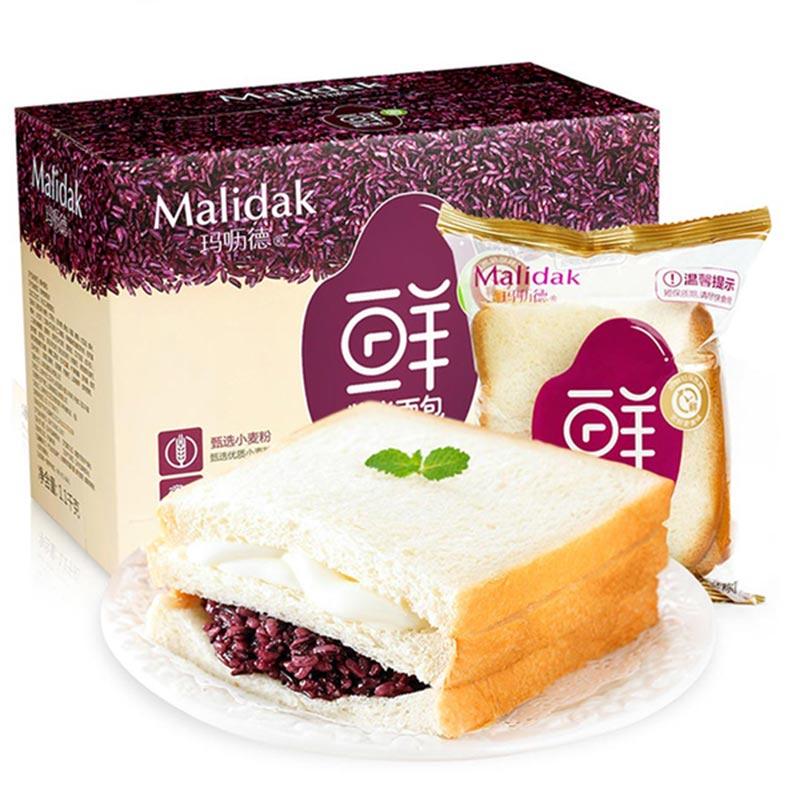 玛呖德             饼干蛋糕             紫米面包奶酪包三明治早餐 1100g装